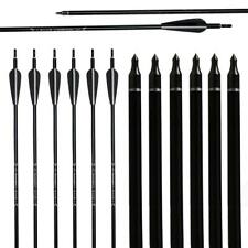31'' Aluminum Arrows Archery Shaft Sp 550 for Compound Recurve Bow Hunting