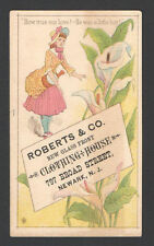 Advertising Trade Card HowTrue Our Love Roberts & Co. Clothing House Newark N.J.