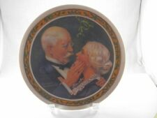Golden Christmas 1976 Norman Rockwell Knowles Plate First Limited Edition