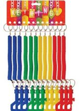 SPIRAL KEY CHAIN RETRACTABLE SPRINGY KEYRINGS Keychain Party Loot Bag Filler