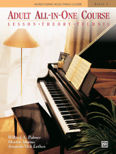 Alfred's Basic Adult All-In-One Piano Course: Level 1 by Willard Palmer