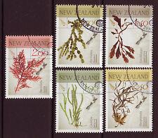 Neuseeland 2014 Native Seaweeds 5-er Satz gestempelt