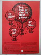 4/1977 Canada pub litton ATC radar simulator balloon arms balloon thought case original ad