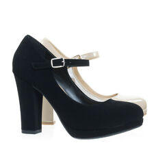362799d547d City Classified Ayden Black Nubuck Foam Padded Comfortable Mary-jane Dress  Pump