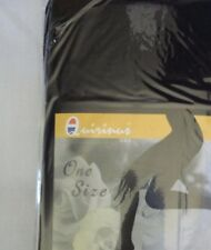 NEW Womens Stretch Opaque Black FOOTLESS Tights One Size Fits All