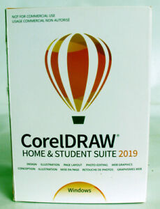 BRAND NEW Corel CorelDRAW Home & Student Suite 2019 in Factory Sealed Retail Box