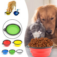 Folding Pet Dog Water Bowl Collapsible Cat Outfit Outdoor Travel Food Feeder