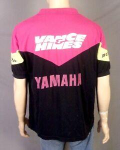 vtg 90s distressed Yamaha Dunlop Vance & Hines Polo Shirt Motocross Racing XL