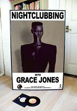 GRACE JONES NIGHT CLUBBING PROMO POSTER,SLAVE TO THE RHYTHM,PRIVATE LIFE