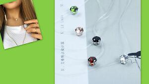 Neu Illusionskette Strasstein Schwebender Stein grün transparent Trend  H40