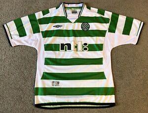 Umbro Sportwool Celtic Football Club Scotland Men's Soccer Jersey - Size XL