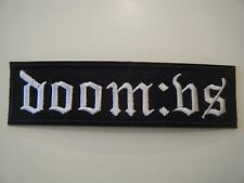 DOOM:VS PATCH EMBROIDERED IRON ON DEATH METAL GOTHIC DRACONIAN FUNERAL BAND NEW