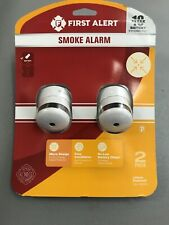 First Alert Smoke Alarm - 2 Pack 1044091 Brand New 10 year