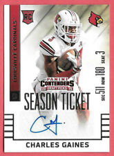 2015 Charles Gaines Panini Contenders Draft Rooke Auto Season Ticket - Browns