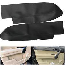 2PCS Leather Front Door Panels Armrest Cover Fits Honda CR-V CRV 2007-2012 Black