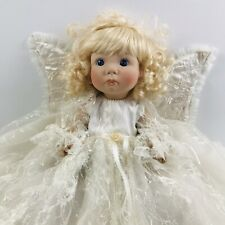 Vintage Rubber Angel Doll With White Lace Dress 9 Inches