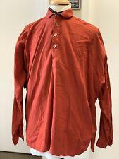 Man's Used Red Cotton Shirt Medium - Civil War, Sass, 19th century, Re-enacting