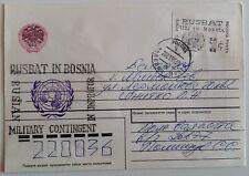 1995 RUSSIA ARMY WHITE STAMP RUSBAT UN BOSNIA c.50+RUSBAT Cancel -K740
