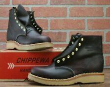Chippewa 1901W23 Wine Womens Leather Ankle Boots Plain Toe Size 8.5 M