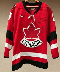 RARE CANADA NATIONAL TEAM ICE HOCKEY SHIRT JERSEY CAMISETA NIKE ROEST SIGNED