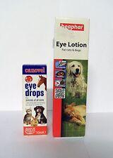 Canovel Eye Drops PLUS Beaphar Eye Lotion for Cats & Dogs.