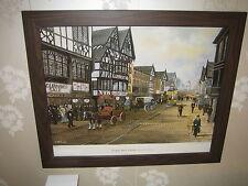 Bernard McMullen Limited Edition Framed Print (40x50cm) Eastgate Street Chester