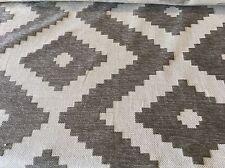 Schumacher Ethnic Diamond Upholstery Fabric Vail Chenille Driftwood 8.15yd 66761