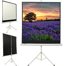 125x 125cm Projector Movie Tripod Projection Screen Portable Pull-Up Matte