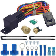 190°F ELECTRIC FAN WIRING INSTALL KIT COMPLETE THERMOSTAT 40 AMP RELAY SBC BBC