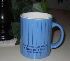 VINTAGE PLASTIC MUG ~ WEST PLAINS HIGH SCHOOL ~ CLASS OF 1943 ~ 45TH REUNION #6A
