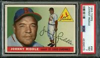 1955 Topps BB Card # 98 Johnny Riddle St. Louis Cardinals PSA NM 7 !!!