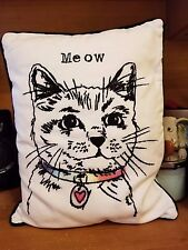 "Pottery Barn Teen ""Watercolor Pets - Cat"" 12 X 16 Throw Pillow"