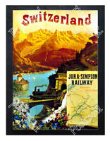 Historic railway going from France to Switzerland Advertising Postcard