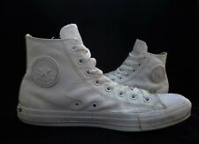 Mens CONVERSE White Leather Hi-Top Trainers Size 8 eu 41.5 Good Cond