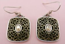 Brighton Gala Two Tone Crystal Earrings French Wire
