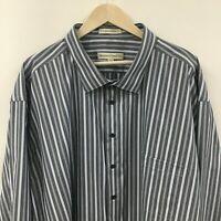 NEW Mens 6XLT PRONTO UOMO Non Iron Modern Fit Striped Shirt Dress -SUPERB-  9c