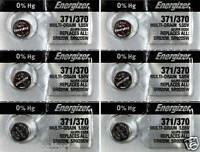 6 Pcs Energizer Watch Batteries 371 / 370 SR920SW SR920W