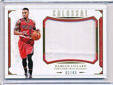 2015/16 PANINI NATIONAL TREASURES DAMIAN LILLARD COLOSSAL GAME/WORN 01/49