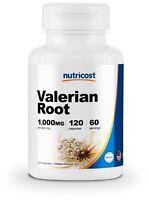 Nutricost Valerian Root Capsules 1000mg, 120 Caps - Gluten Free, Non-GMO