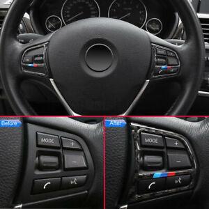 For BMW 1/2/3/4 Series Carbon Fiber Steering Wheel Button Trim F20 F22 F30 AU