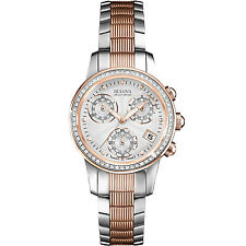 Bulova Accu Swiss Women's 65R153 Diamond Accents Chronograph Two-Tone 31mm Watch