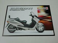 Prospectus Catalogue Brochure Moto Suzuki AN 250 Burgman 1999 Nederland