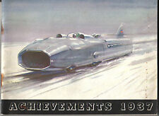 Castrol Achievements 1937 Racing + Rallying Car Motorcycle Air Water M Campbell