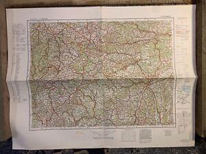 Original WW2 German Army Map - 1932 Dated Map - L49 Stuttgart, Germany