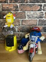 M&M's Sweet Dispensers- Gumball Machine & Motorbike With Side Car