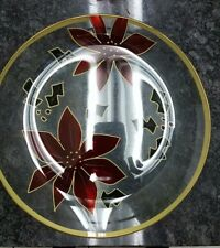 "Poinsettia 13"" Round Platter (Holiday Home by Crystal Clear."