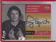 2001-02 UPPER DECK NHL LEGENDS TONY ESPOSITO  EPIC SIGNATURES AUTOGRAPH AUTO