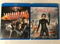 Resident Evil: Damnation and Retribution Lot [Blu-ray] 2 Movies Horror