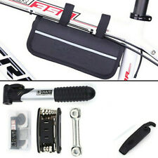 Bike Cycling Bicycle MTB Tools Puncture Repair Kits With Pump Set Carry Case Bag