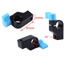 "1/4"" Clamp Clip Block Holder For 15Mm Rail Rod Support System For Magic Arm LM"